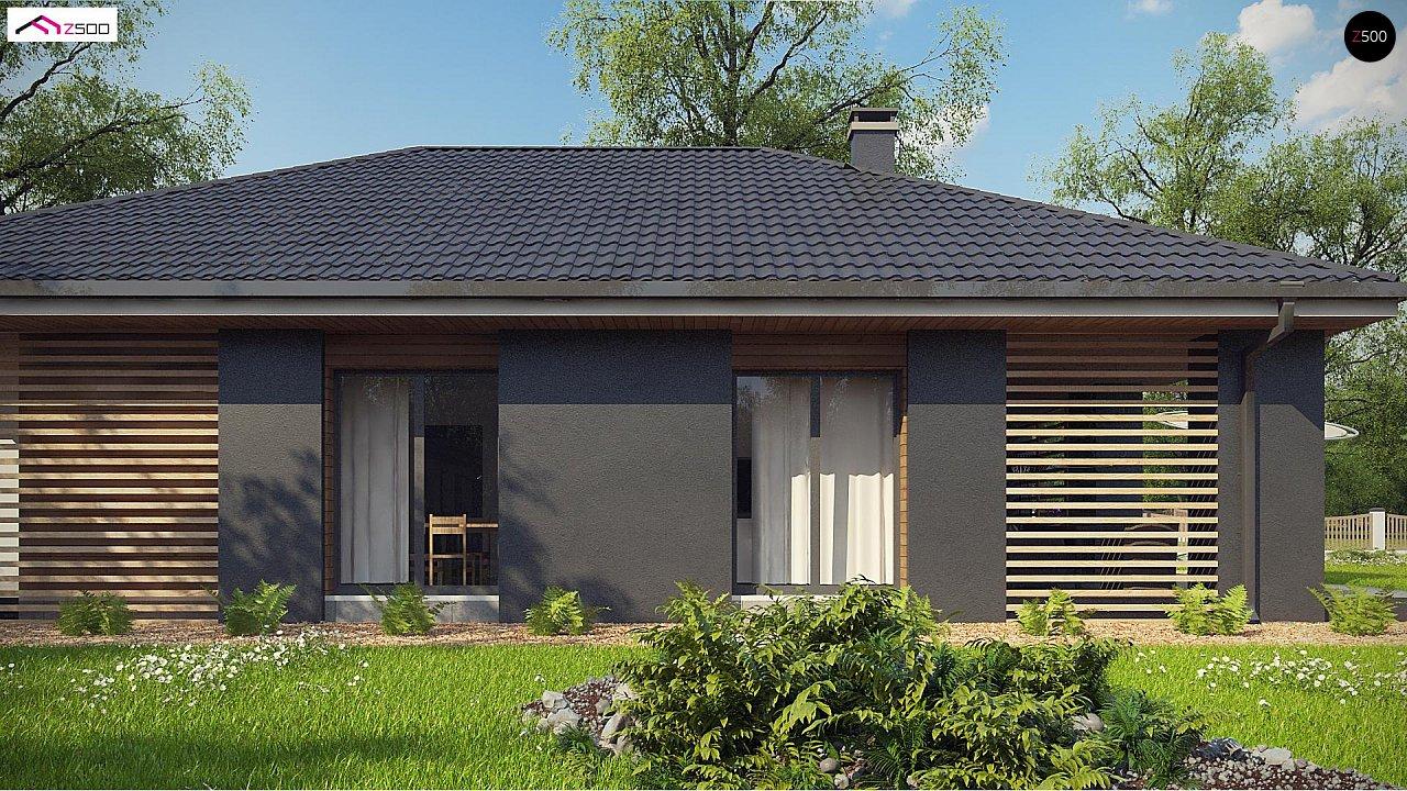 Одноэтажный дом в современном стиле с двойным гаражом 5