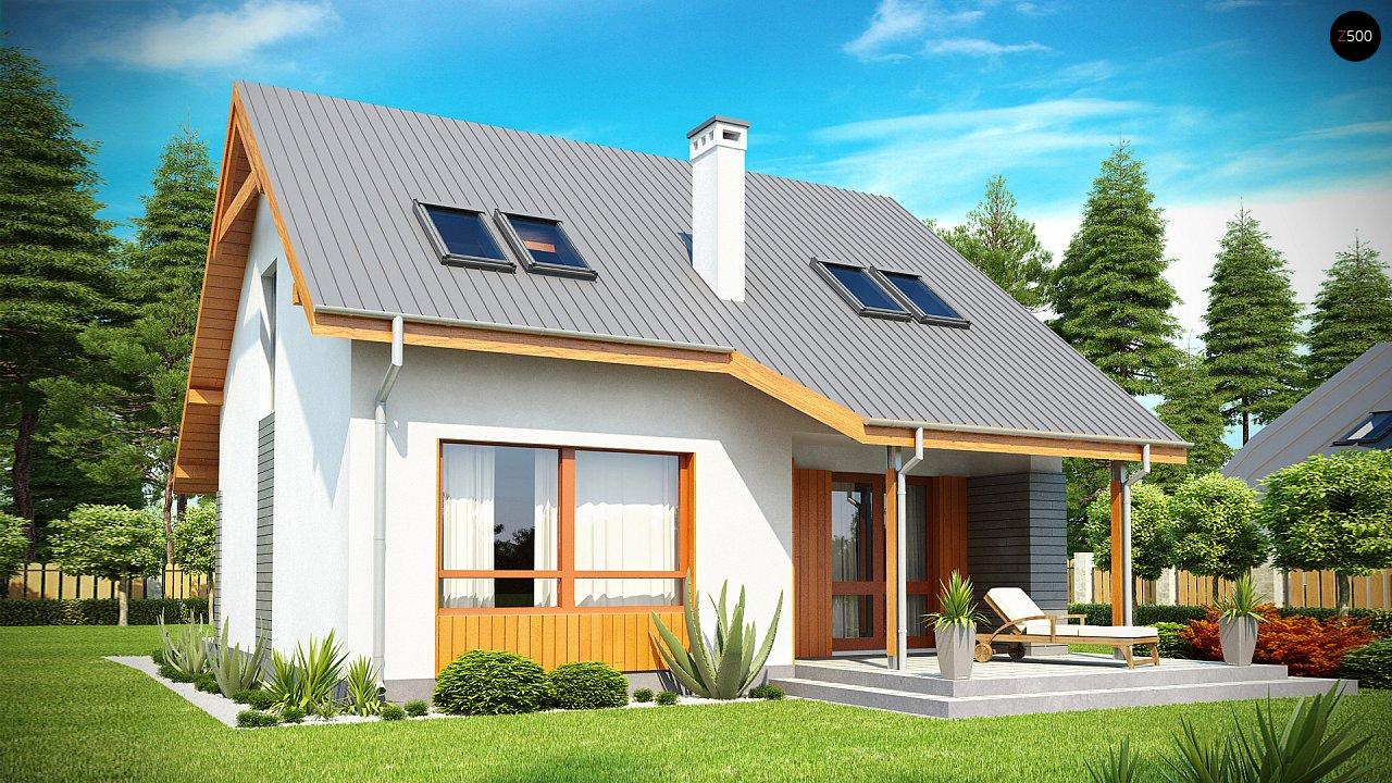 Проект небольшого практичного дома, выгодного в строительстве и эксплуатации. - фото 1