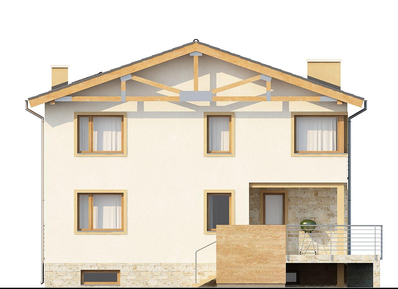 Проект выгодного и практичного двухэтажного дома с подвальным помещение, с дополнительной комнатой на первом этаже. - фото 4