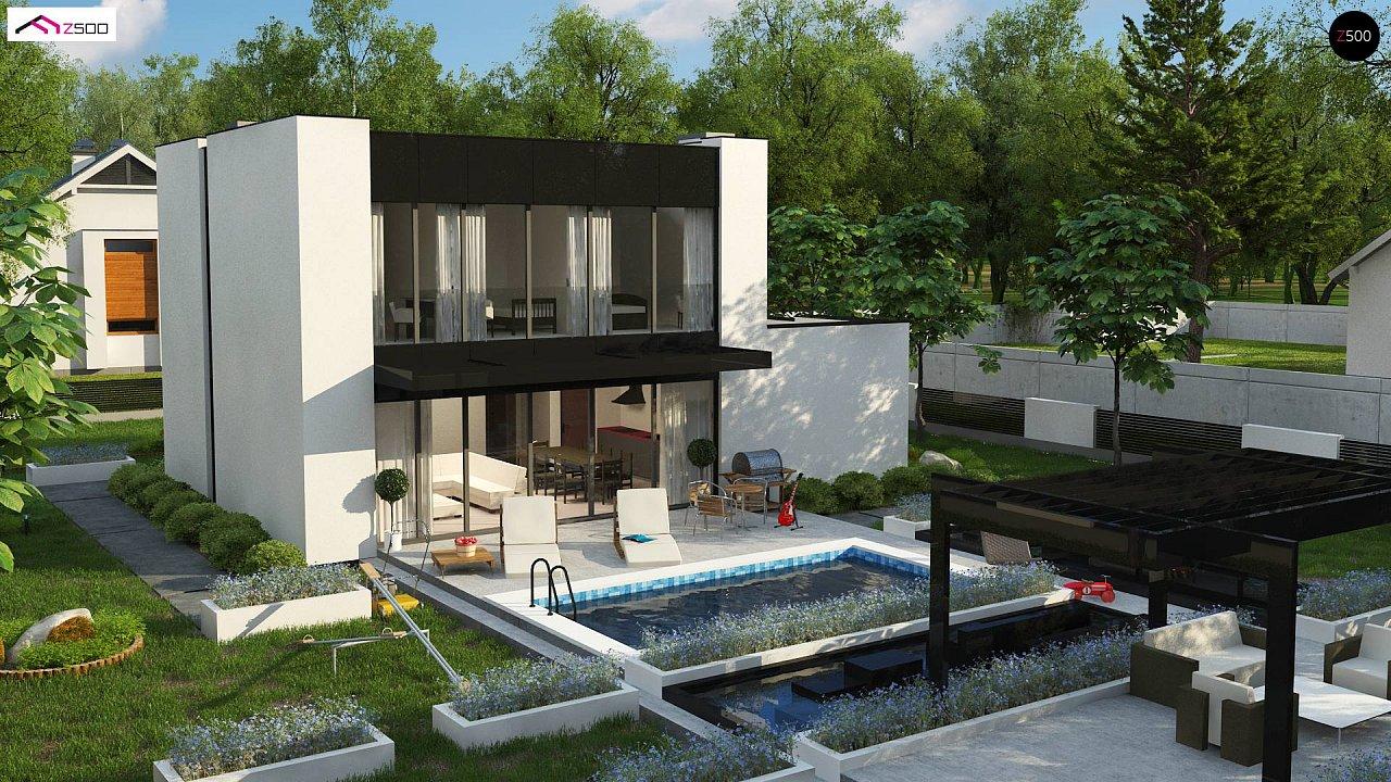 Проект современного односемейного дома с гаражом на одну машину. - фото 5