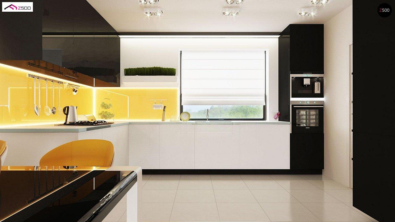 Проект выгодного одноэтажного дома с возможностью адаптации чердачного помещения. 8