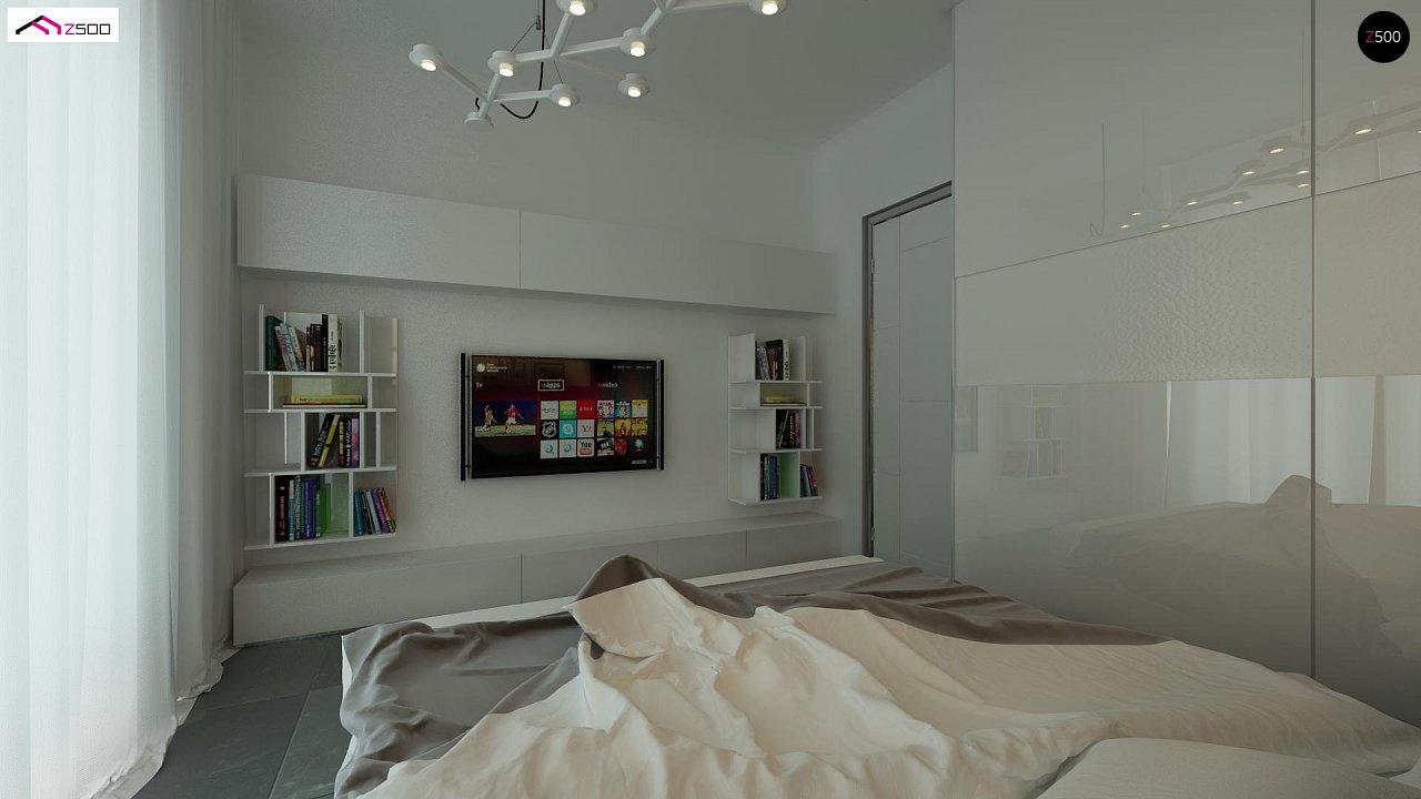 Дом со встроенным гаражом, красивым мансардным окном и вторым светом над гостиной. - фото 8