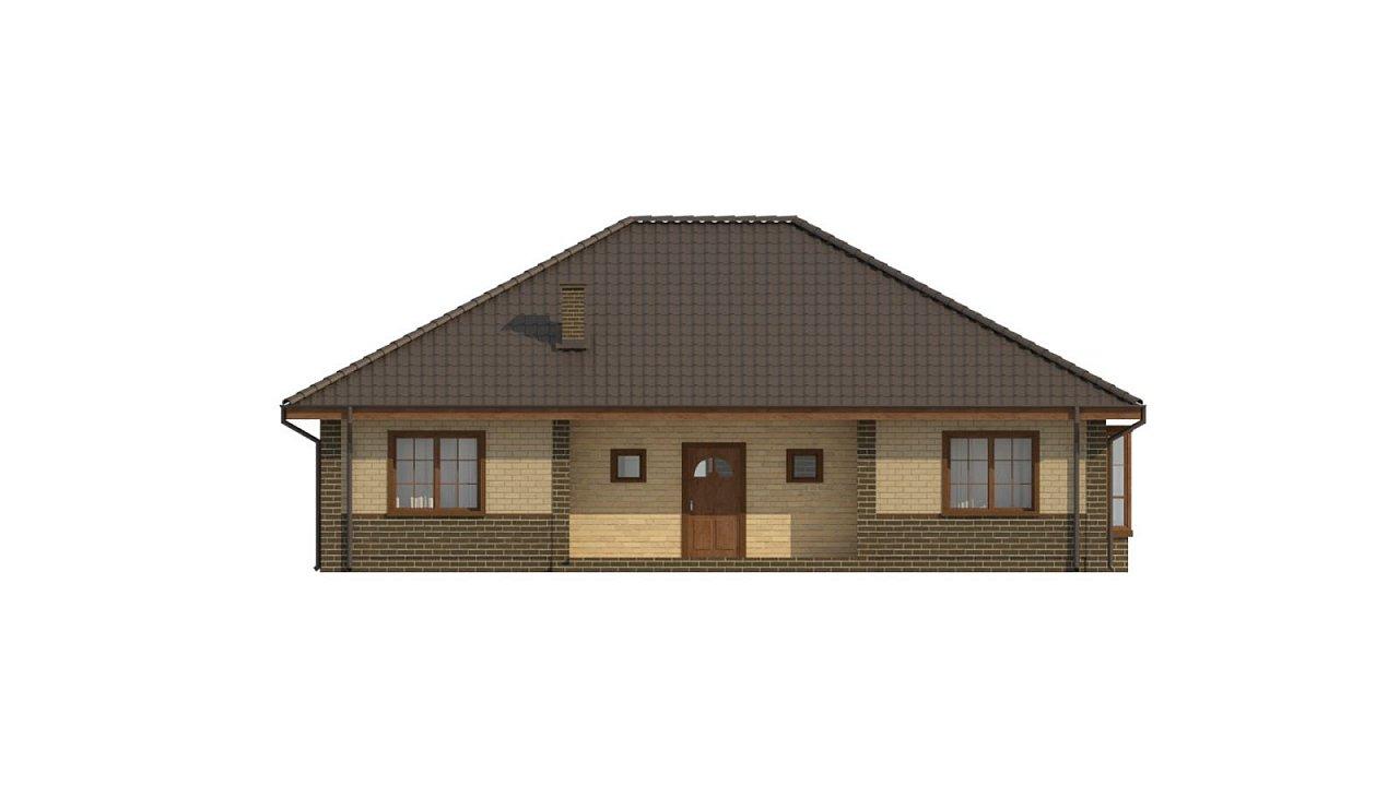 Версия проекта Z10 с кирпичной облицовкой фасадов. - фото 21