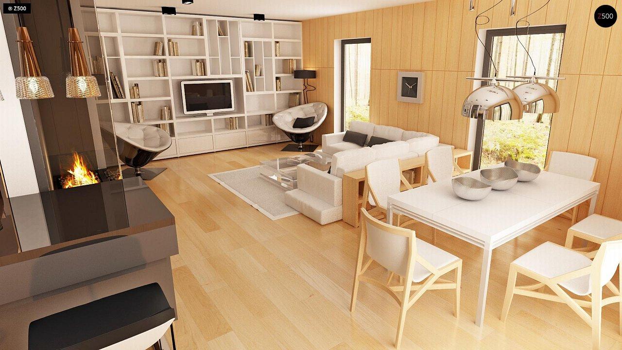 Современный эксклюзивный дом с каменной облицовкой, подходящий для узкого участка. 5