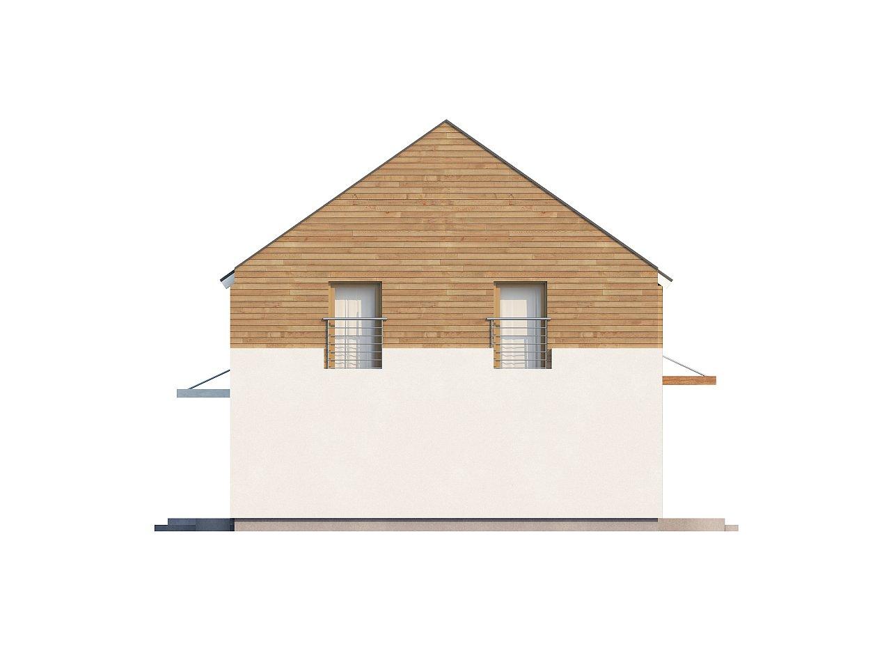 Энергоэффективный дом оригинального дизайна с просторной гостиной. - фото 5