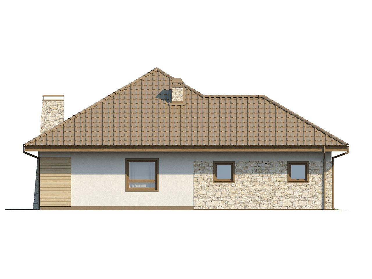 Одноэтажный удобный дом с фронтальным гаражом, с возможностью обустройства мансарды. - фото 16