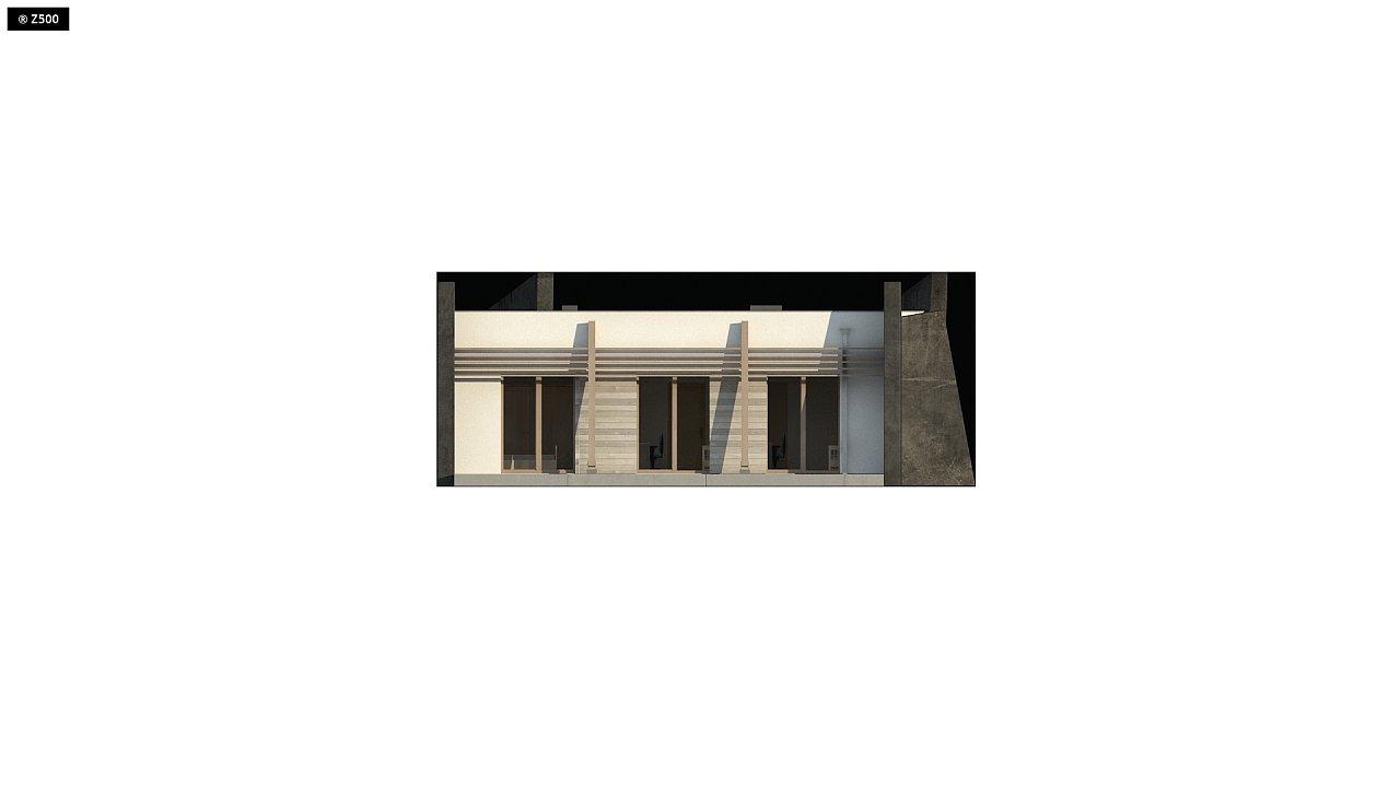 Современный одноэтажный дом в стиле минимализм 5