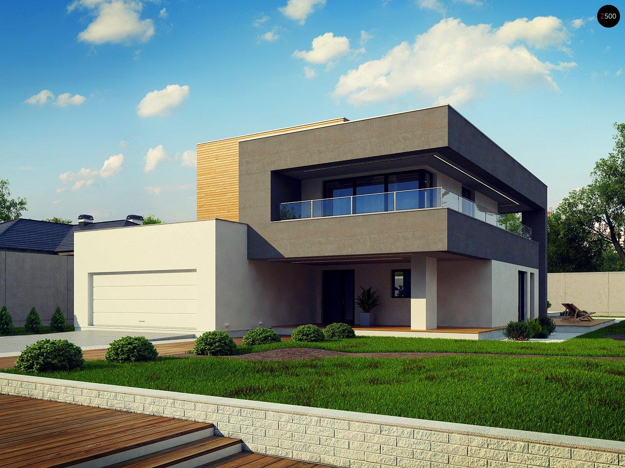 Современный двухэтажный дом с большой площадью остекления. - фото 12