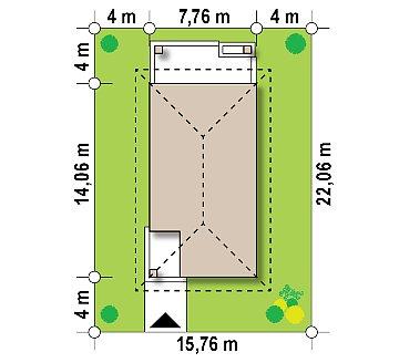 Одноэтажный функциональный дом для небольшой семьи план помещений 1