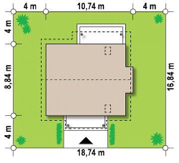 Компактный и функциональный дом с кабинетом на первом этаже и с эркером в обеденной зоне. план помещений 1