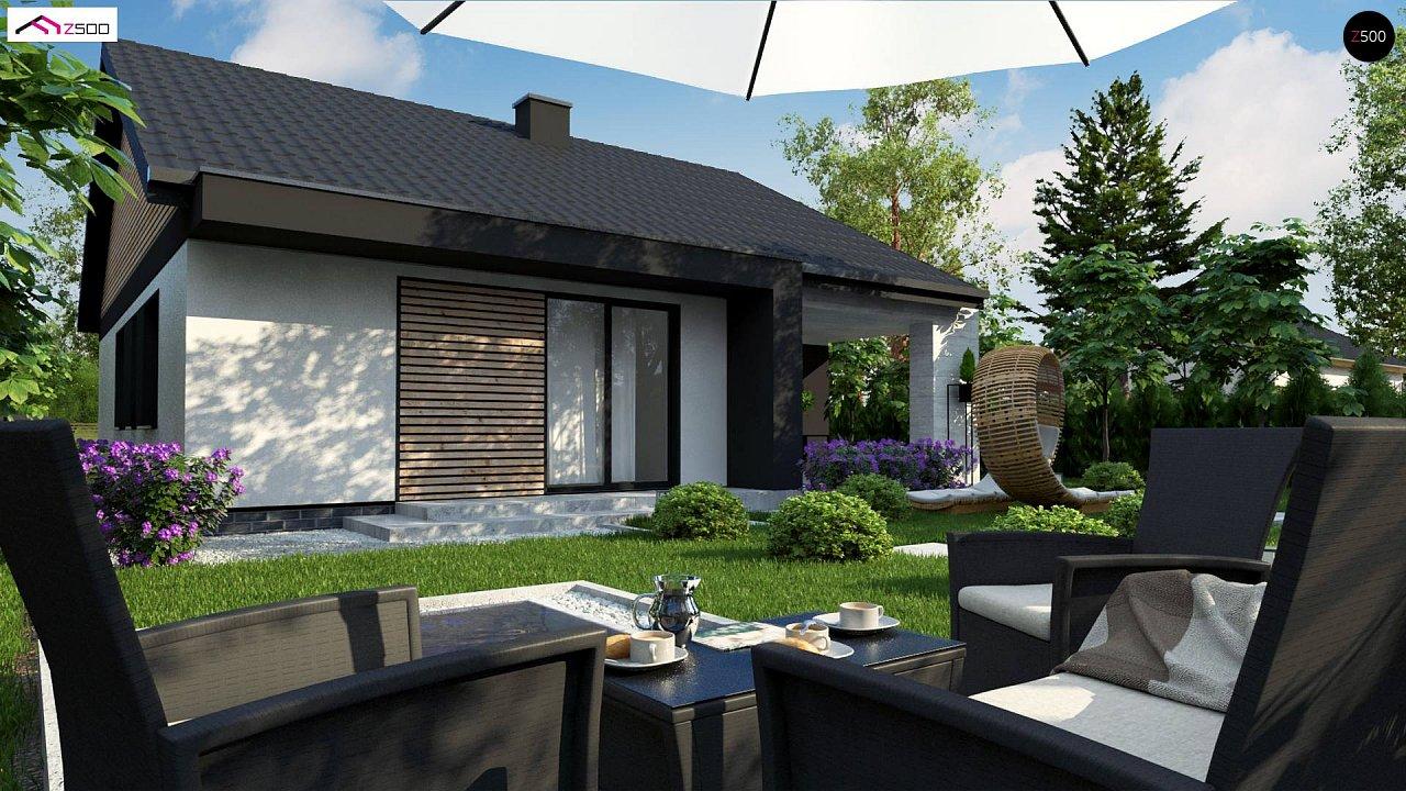 Проект дома с современным дизайном и одноуровневым функциональным интерьером. - фото 3