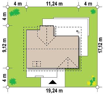 Традиционный дом с современными элементами архитектуры. план помещений 1
