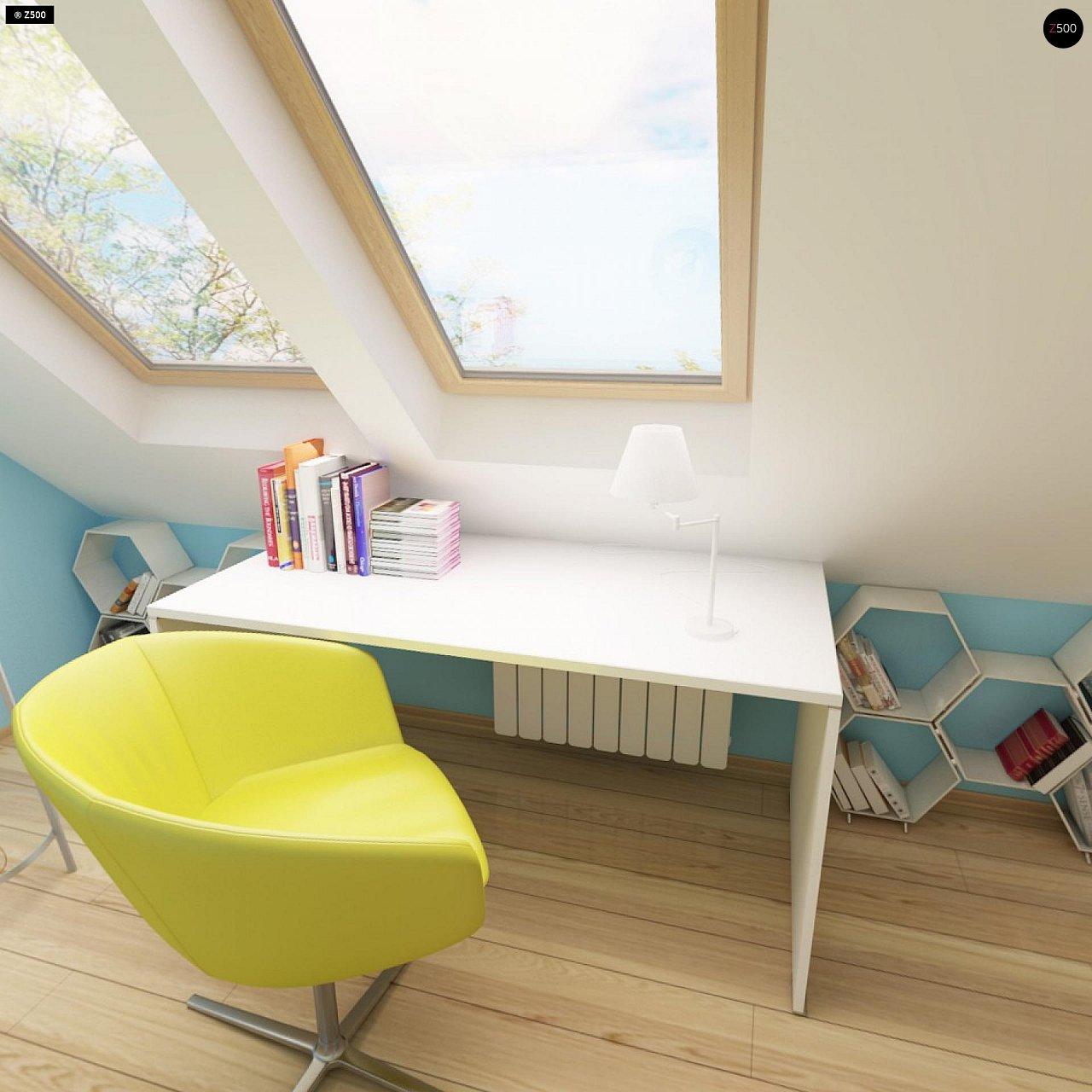 Выгодный и простой в строительстве дом с эркером в дневной зоне. 12