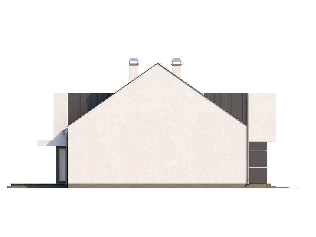 Современный дом с уютным и функциональным интерьером. Интересное сочетание двускатной крыши и кубических форм. - фото 23