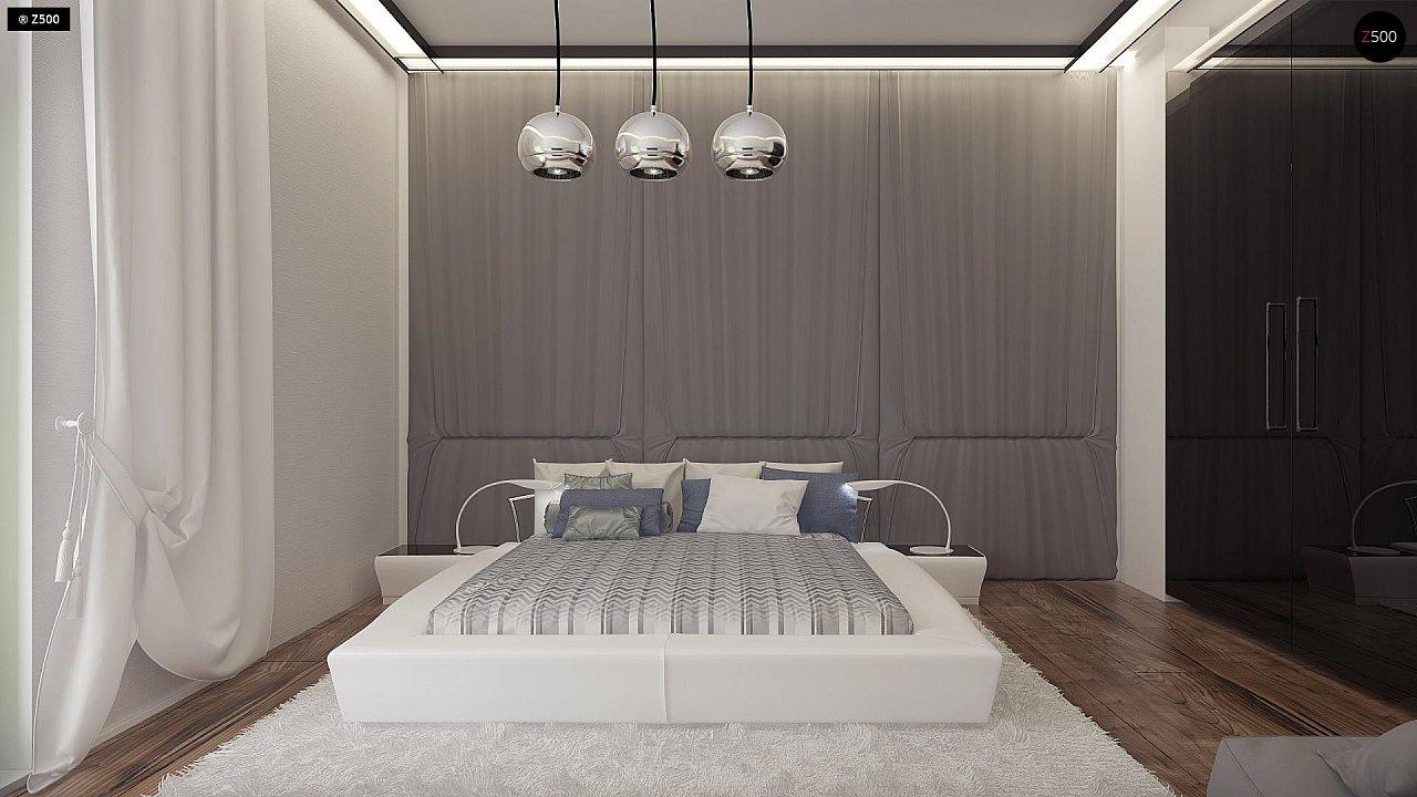 Проект современного дома в стиле хай-тек с двумя спальнями. - фото 17