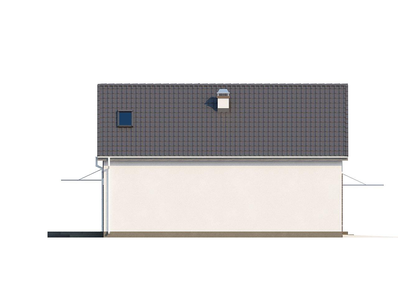 Просторный и комфортный дом с гаражом для двух автомобилей и угловым эркером. 5