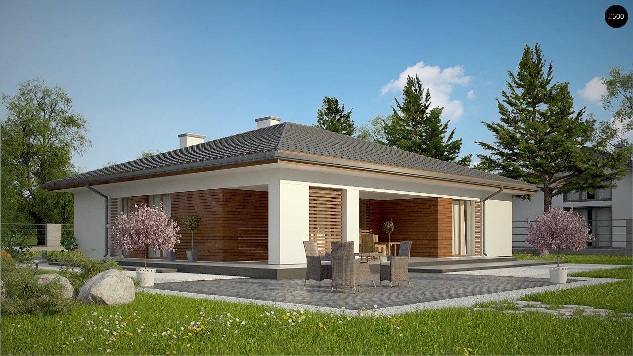 Стильный одноэтажный дом с комфортной крытой террасой 3