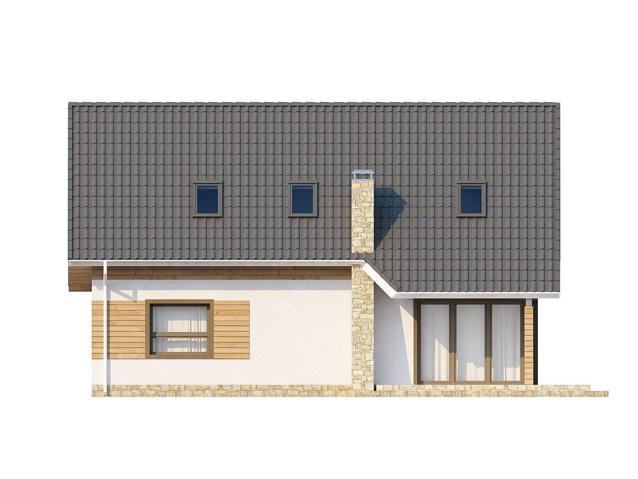 Традиционный дом простой формы с двускатной крышей, с дополнительной комнатой на первом этаже. 22
