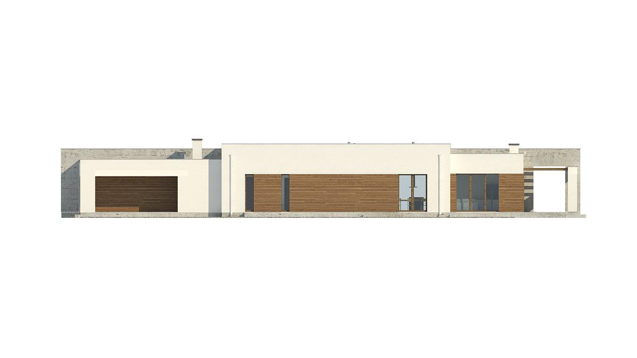 Комфортный одноэтажный дом для узкого участка. 9