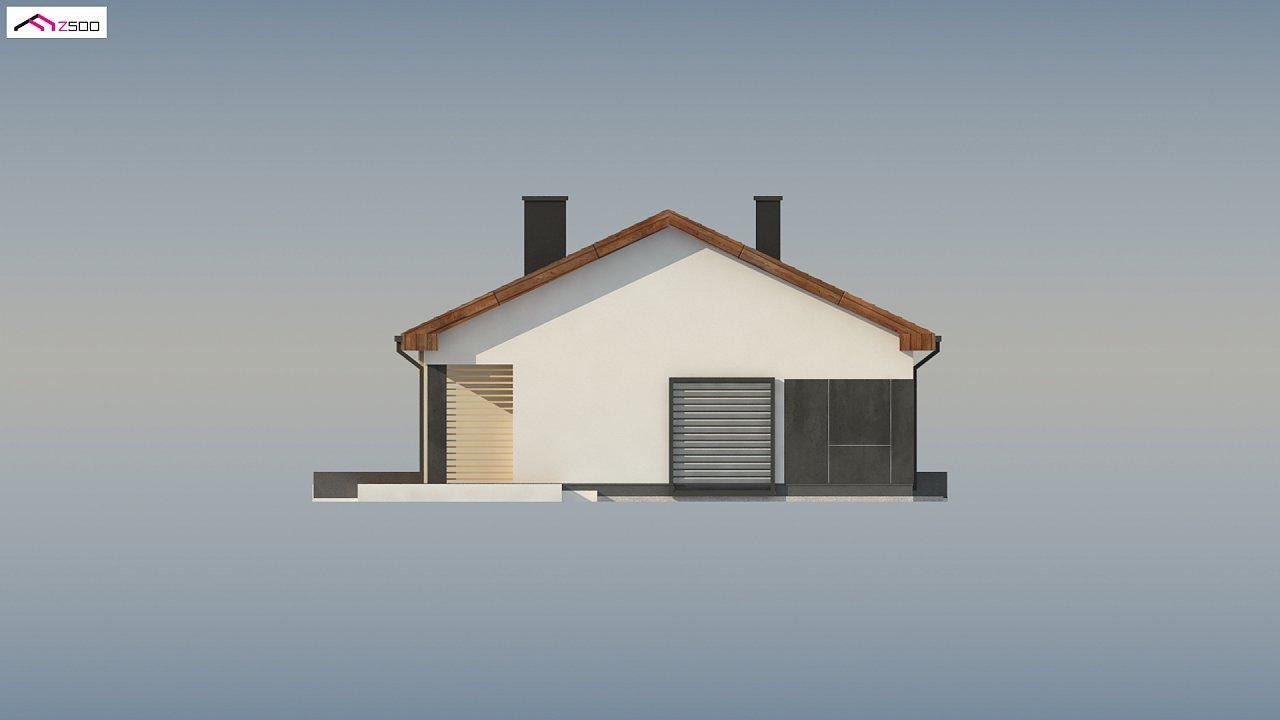 Стильный одноэтажный дом с двускатной кровлей и грамотной планировкой 19