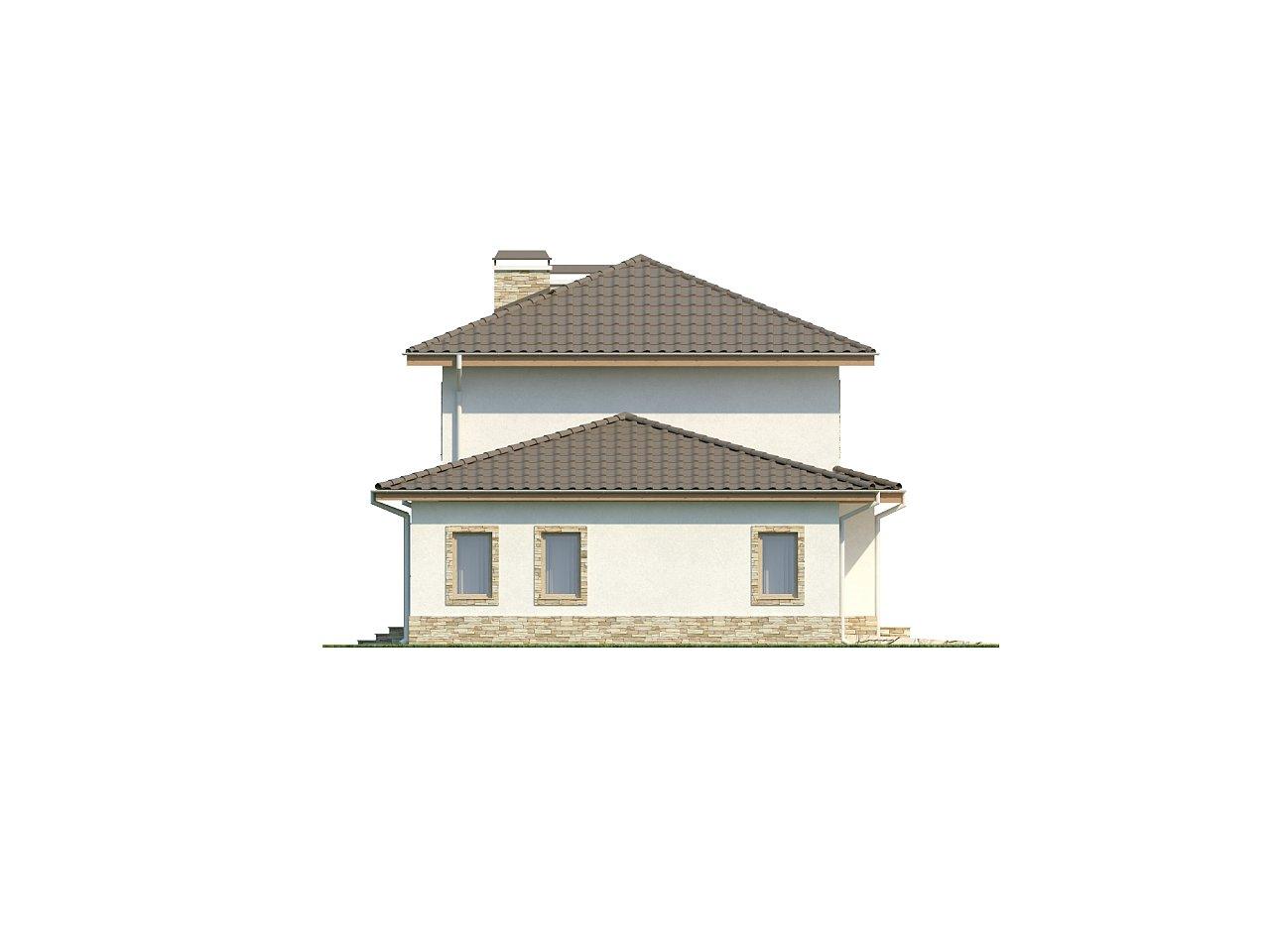 Просторная итальянская двухэтажная вилла с крытой боковой террасой и большим гаражом. - фото 6