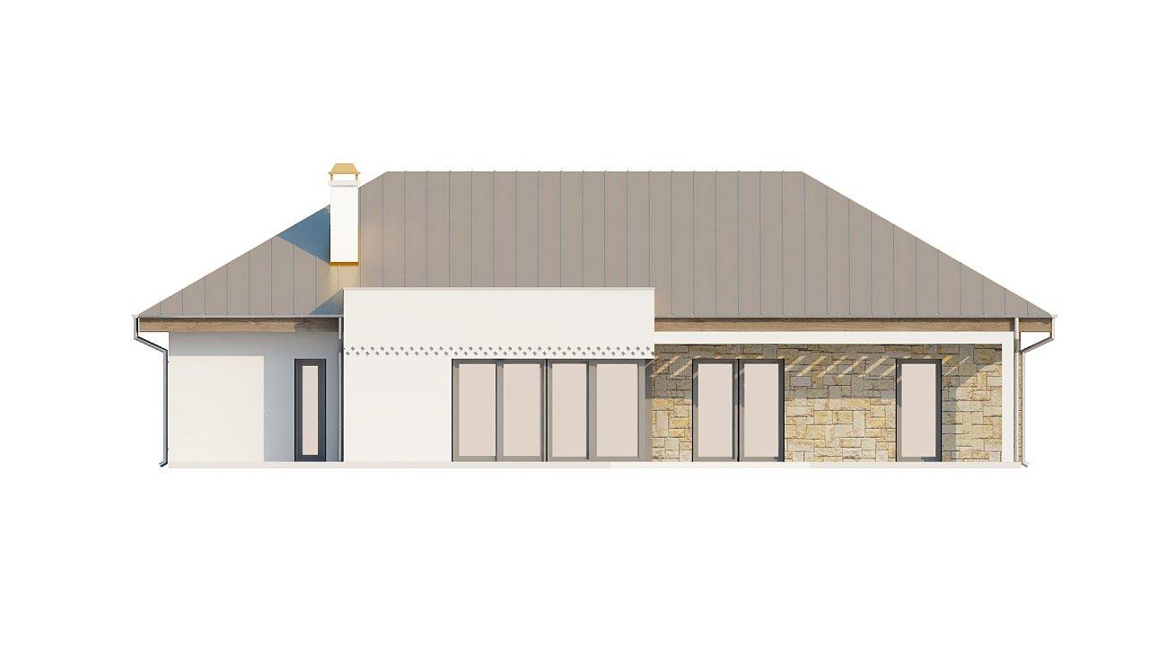 Проект одноэтажного дома с гаражом, с четко выделенной приватной зоной. 6