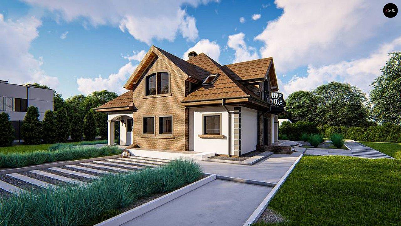 Классический мансардный дом с балконами. 6