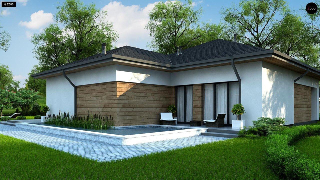 Проект комфортного одноэтажного дома в европейском стиле. 4