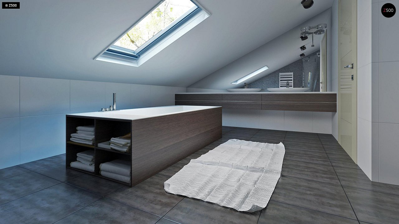 Проект функционального и удобного дома с комнатой над гаражом. 16