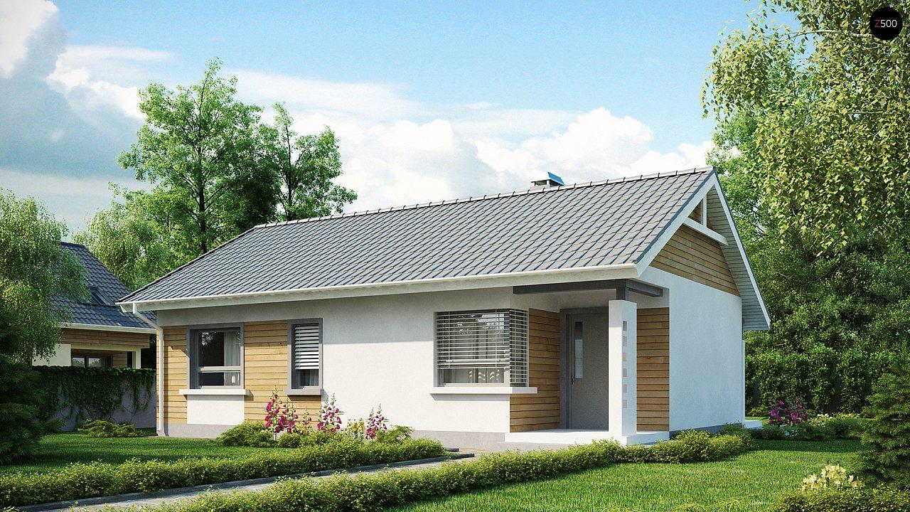 Выгодный компактный одноэтажный дом с угловым окном в кухне. 1