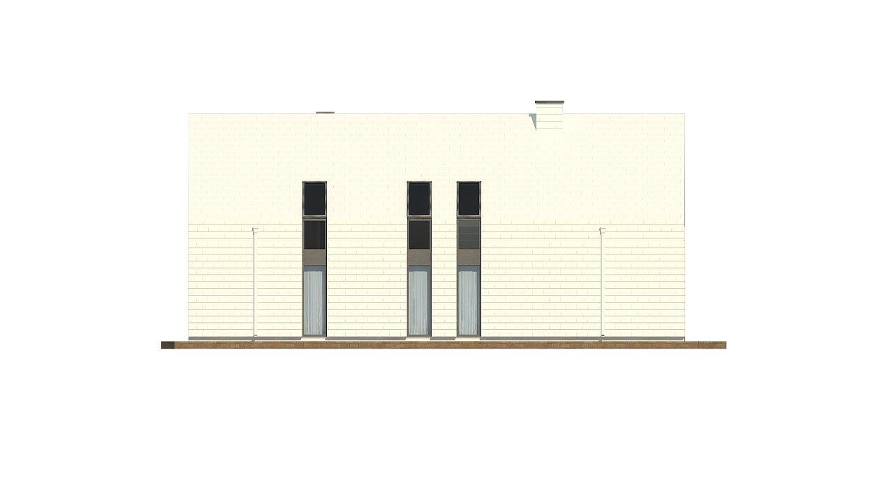 Мансардный дом со встроенным гаражом для одного автомобиля. 18