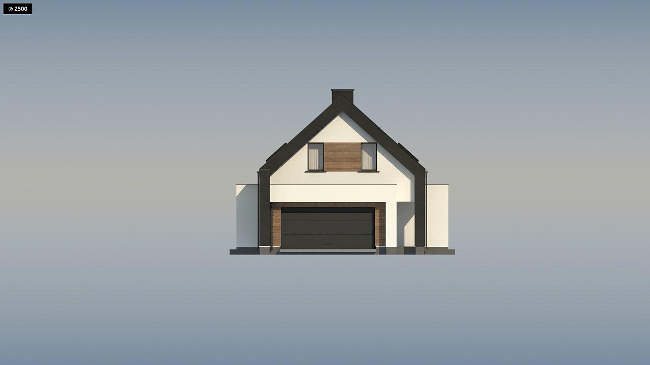 Проект удобного и красивого мансардного дома с гаражом на 2 машини и 3 спальнями. 13