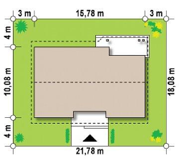 Проект выгодного одноэтажного дома с возможностью адаптации чердачного помещения. план помещений 1