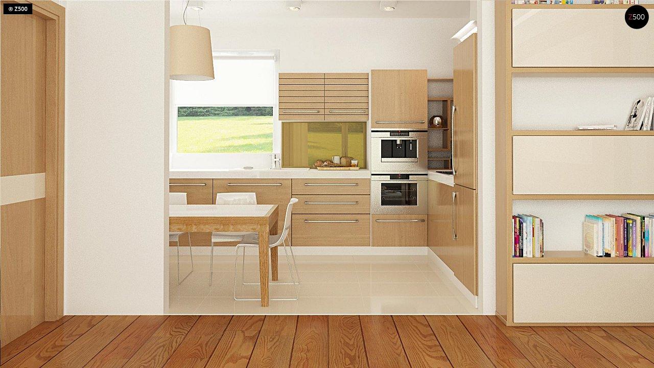 Выгодный компактный одноэтажный дом с угловым окном в кухне. 6