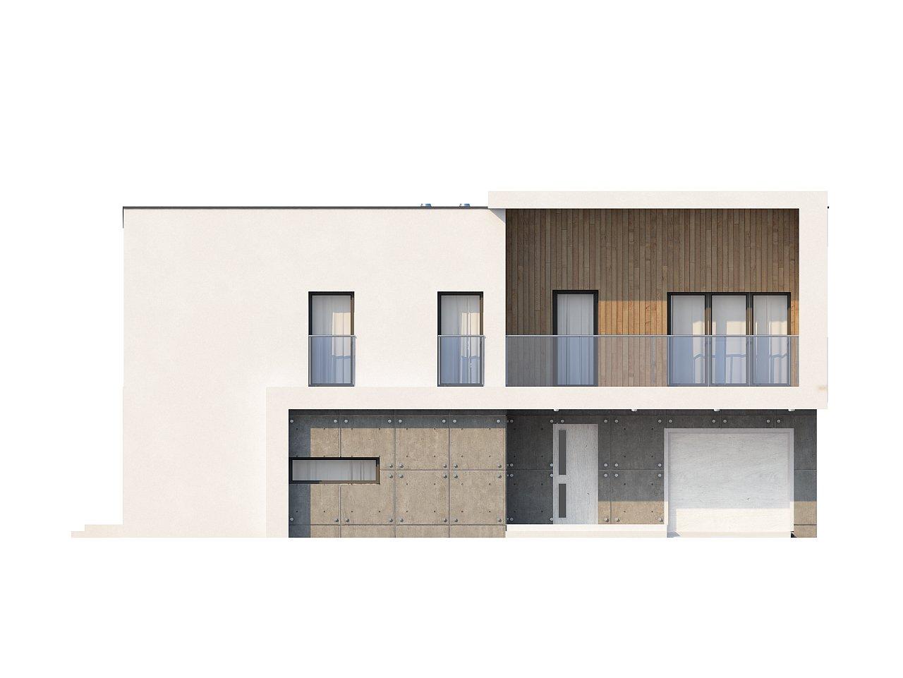 Просторный дом современного дизайна с гаражом и кабинетом на первом этаже. 3