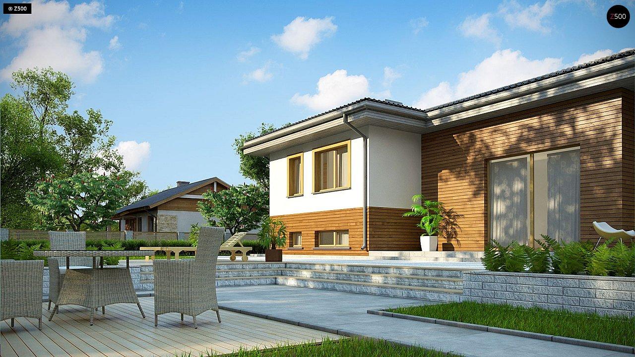 Красивый и комфортный однэтажный дом с цоколем 4