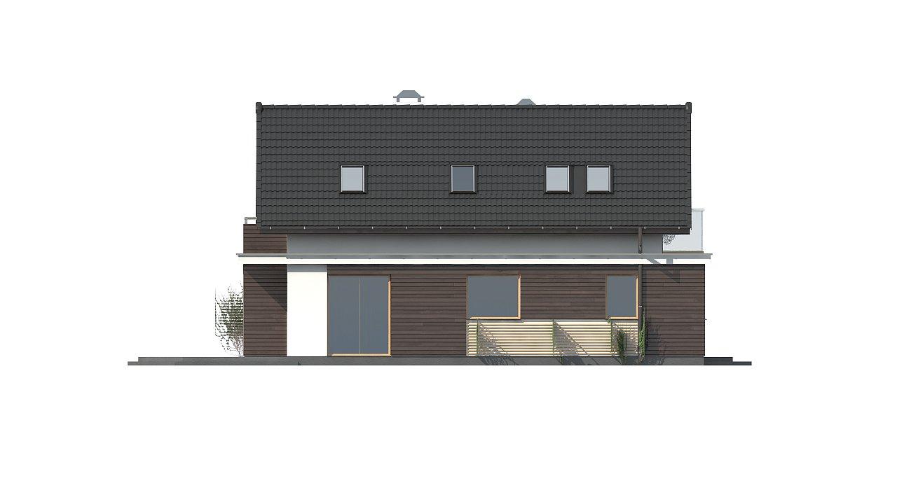 Функциональный аккуратный дом с мансардой, также для узкого участка. 16