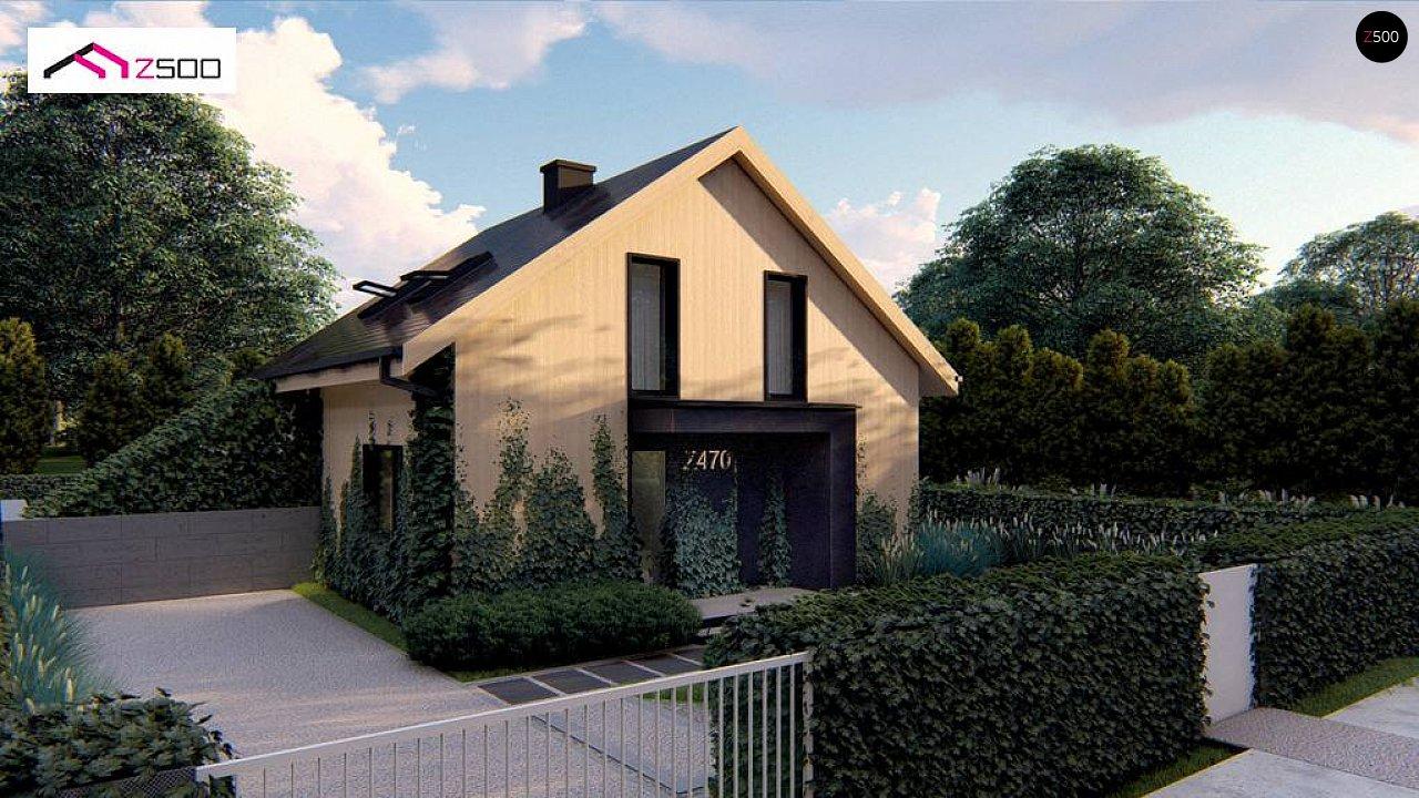 Проект просторного мансардного дома с панорамным остеклением. - фото 5