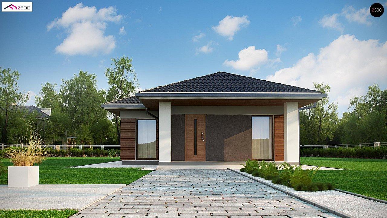 Одноэтажный дом в традиционном стиле с просторной гостиной - фото 2