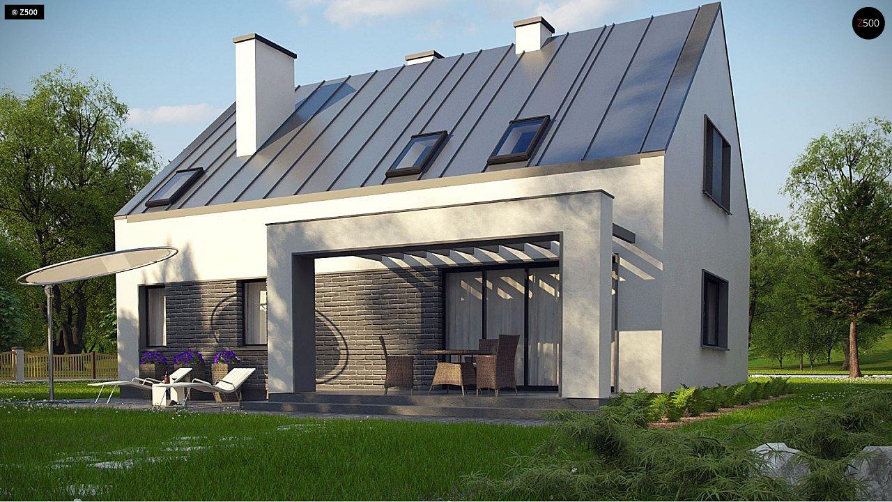 Проект мансардного с тремя спальнями и двускатной крышей 5