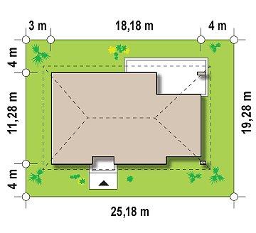 Одноэтажный дом традиционного характера с тремя удобными спальнями и встроенным гаражом. план помещений 1