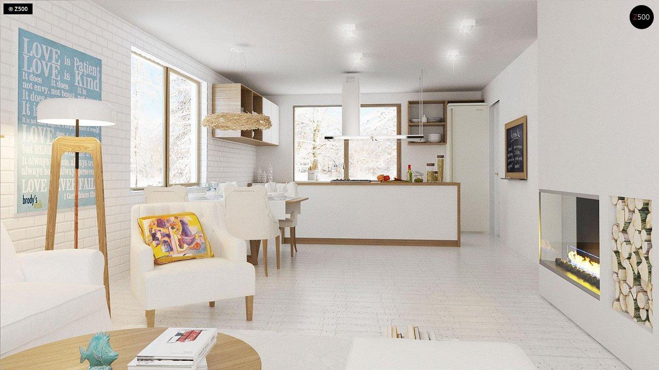 Проект традиционного одноэтажного дома с возможностью обустройства мансарды. 7