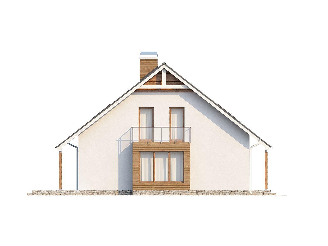 Проект функционального и удобного дома с комнатой над гаражом. 24