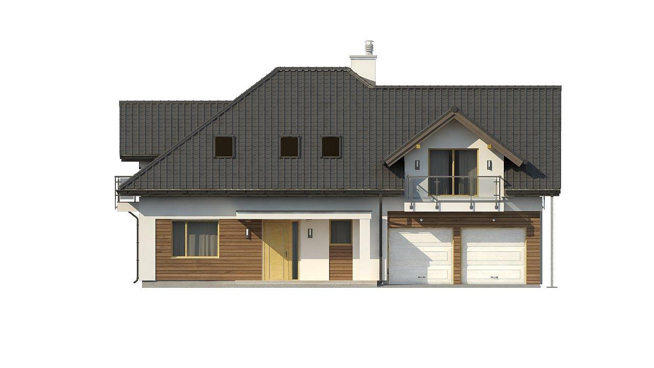 Просторный дом с большими фасадными окнами, с гаражом для двух автомобилей. - фото 5