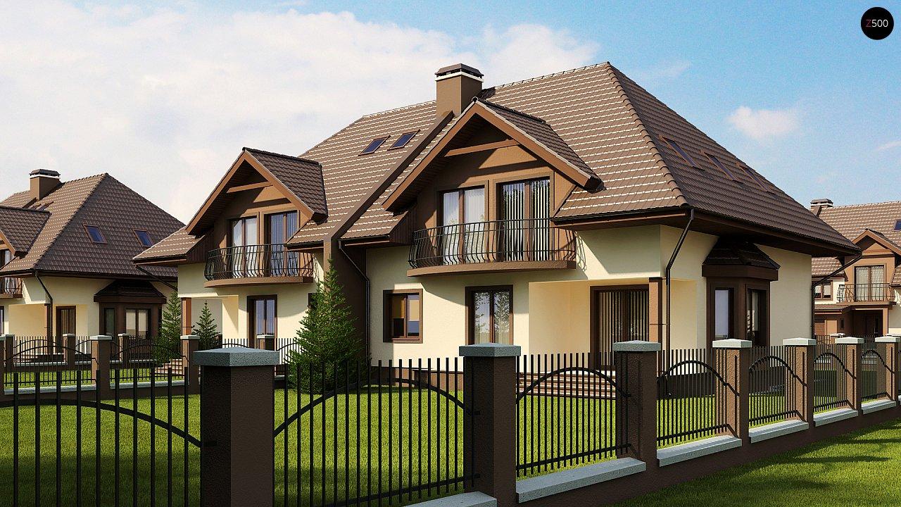 Проект домов близнецов с гаражом и дополнительным помещением на чердаке. 2