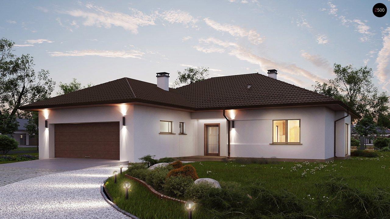 Удобный функциональный одноэтажный дом с гаражом для двух автомобилей. 4