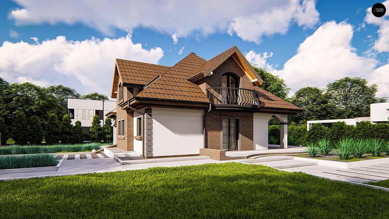Классический мансардный дом с балконами. 4
