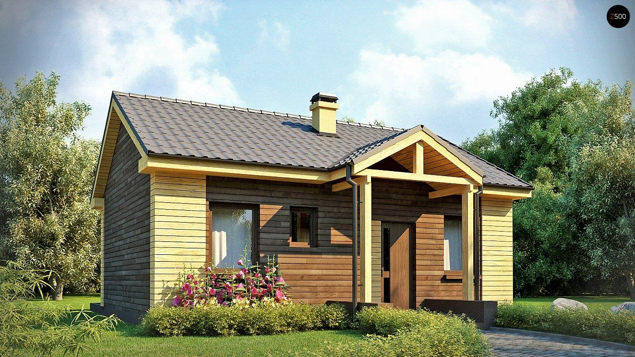 Маленький одноэтажный дом с двускатной кровлей, недорогой в строительстве и эксплуатации. - фото 3