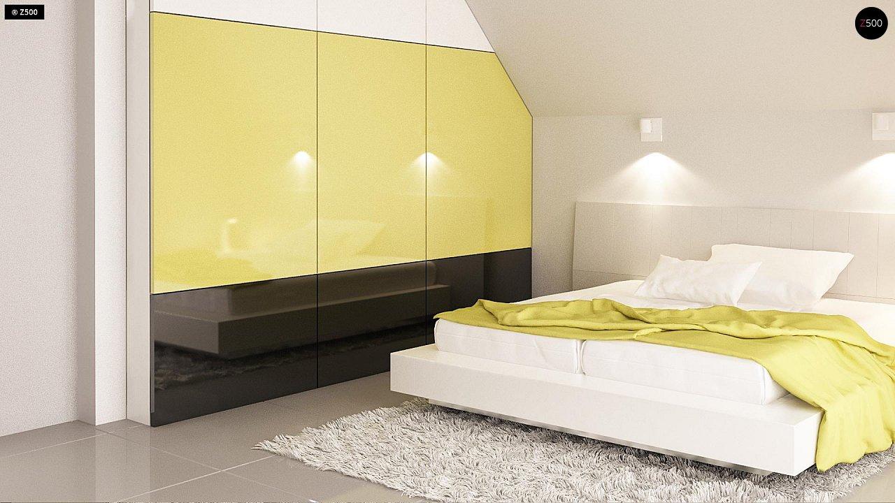 Функциональный и привлекательный дом с гаражом для узкого участка. 14
