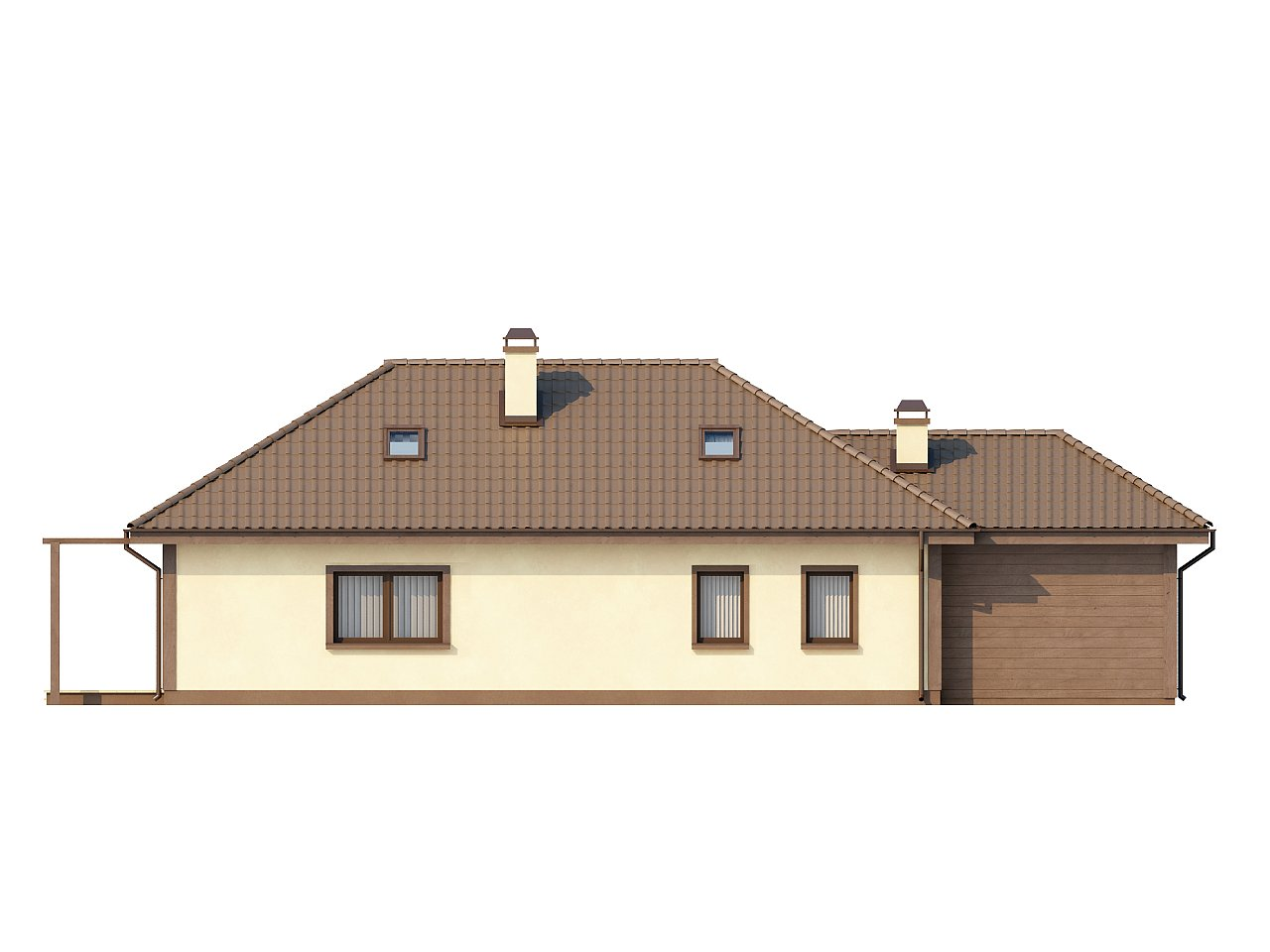 Просторный дом в традиционном стиле с двумя спальнями на мансарде. 4